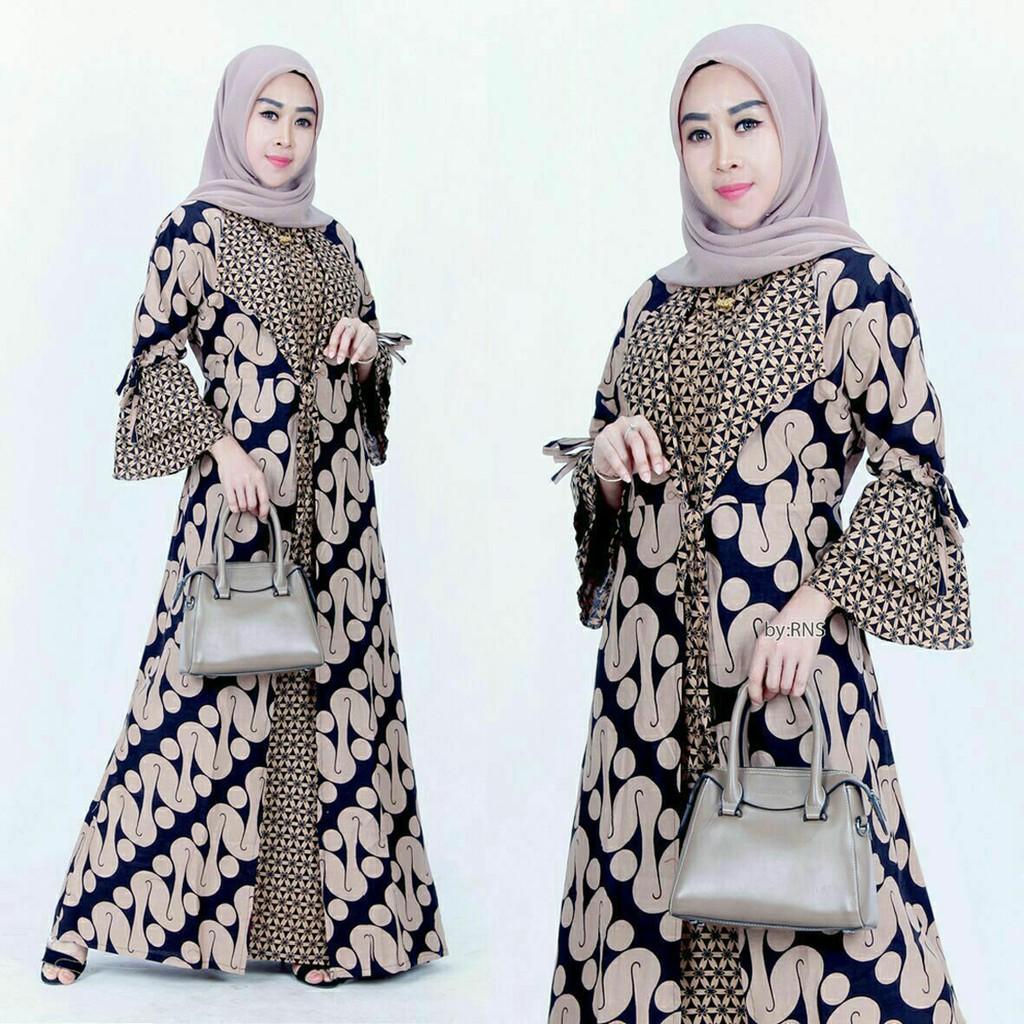 Baju gamis wanita terbaru ,kain adem saat di pakai harga murah model  terbaru baju gamis syar i