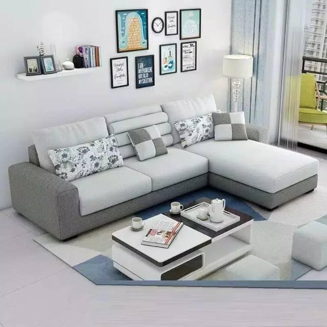 PROMO Sofa Minimalis L Shape/Putus Dekorasi Rumah Anda Dengan Sofa MInimalis  Agar | Shopee Indonesia