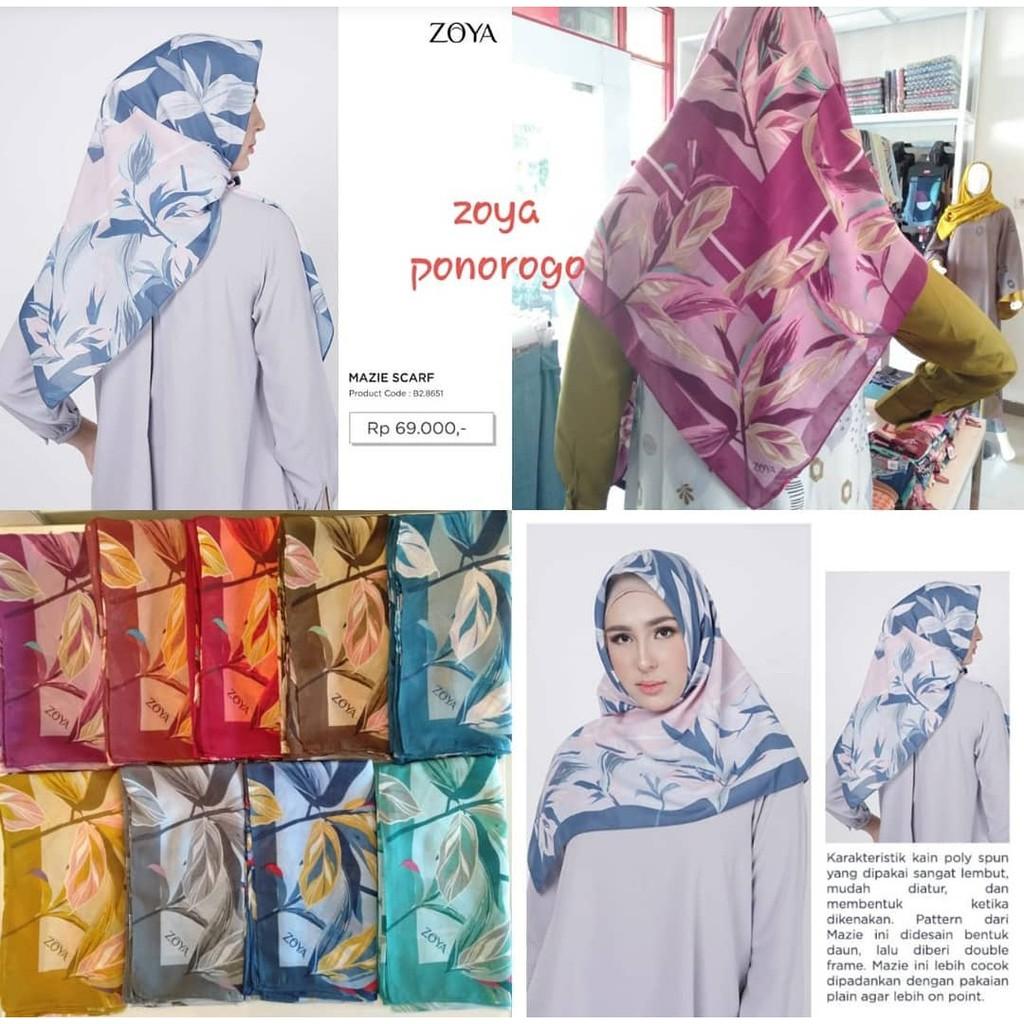 hijab segiempat - hijab zoya segiempat- hijab mezie scarf - hijab zoya  terbaru - hijab zoya motif