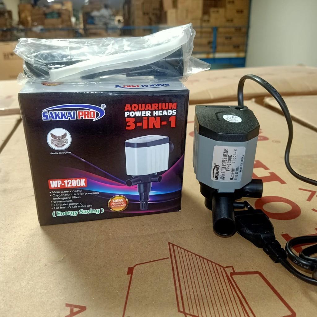 Aquarium Power Heads 3in1 Sakkai Pro WP-1200K Pompa ...