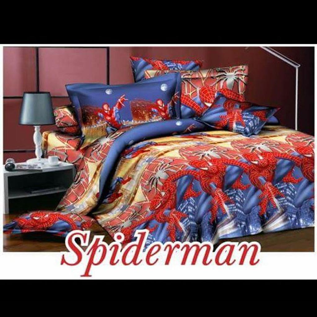 Sprei Kintakun Dluxe Spiderman Shopee Indonesia Uk 180x200
