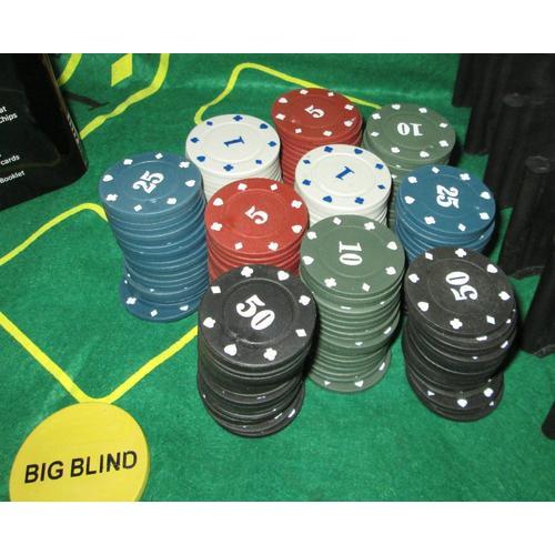 Texas Holdem 21 Set 200pcs Taplak Meja Code Poker Kotak Besi Shopee Indonesia