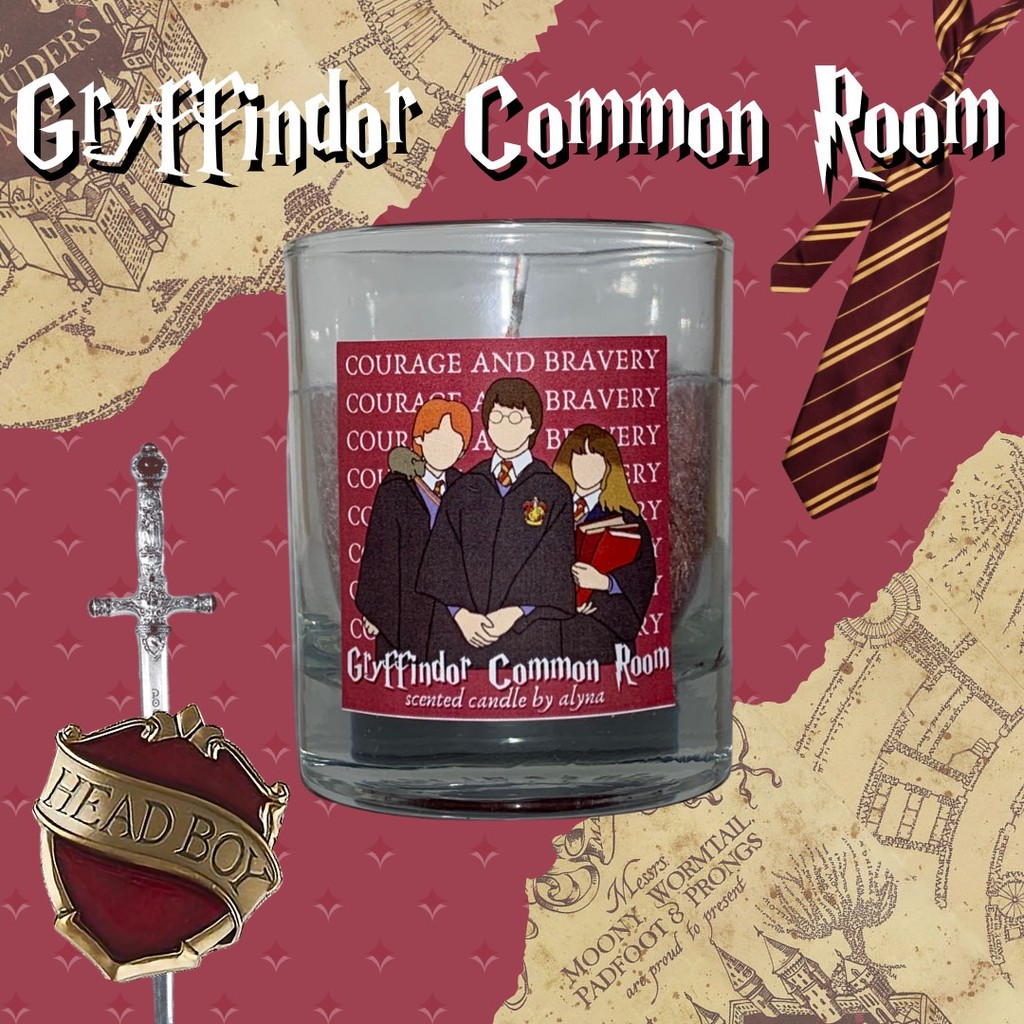 Gryffindor Scented Candle Cinnamon Harry Potter Collection Shopee Indonesia