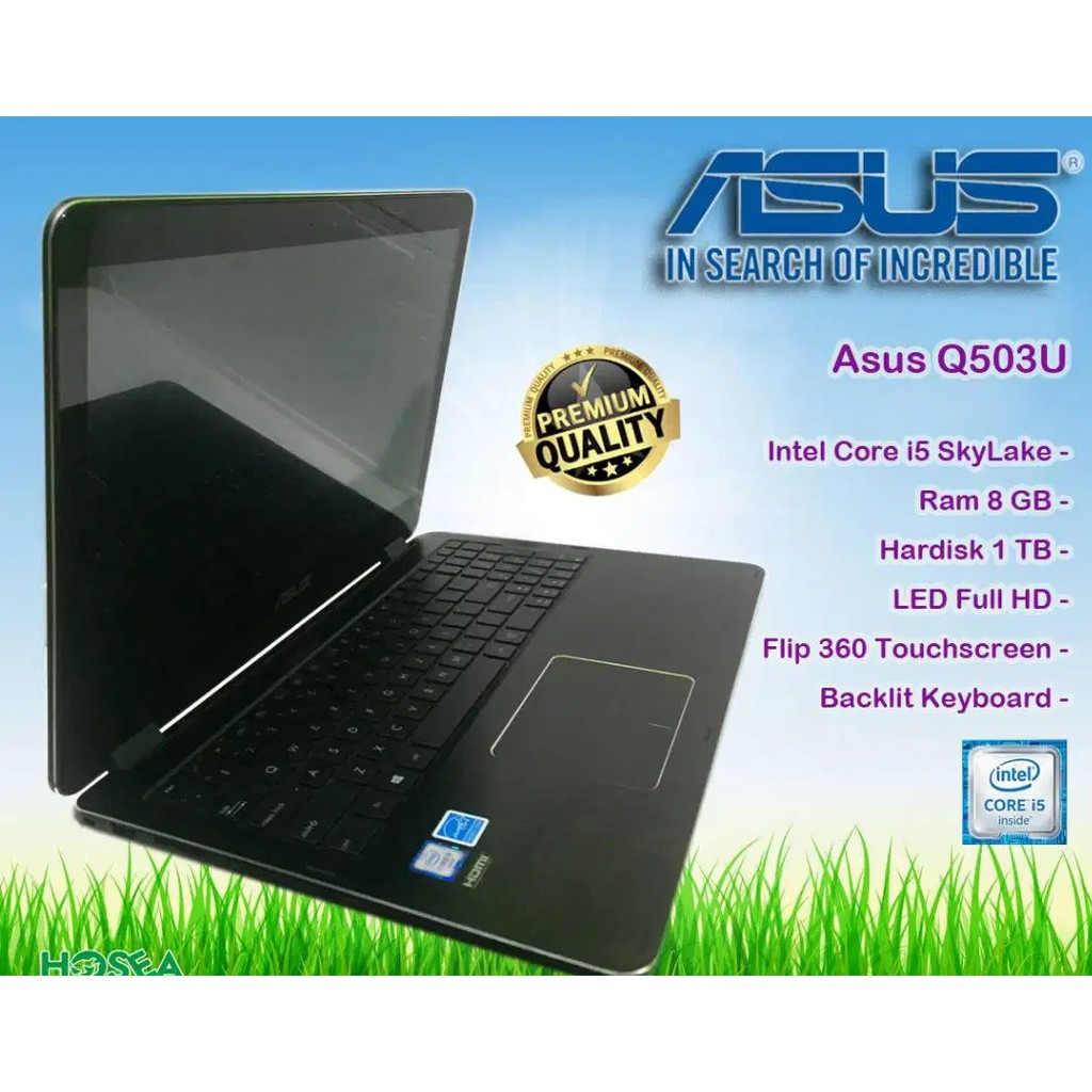 Laptop Asus Q503U core i5-gen6 Ram 8gb hdd 1tb