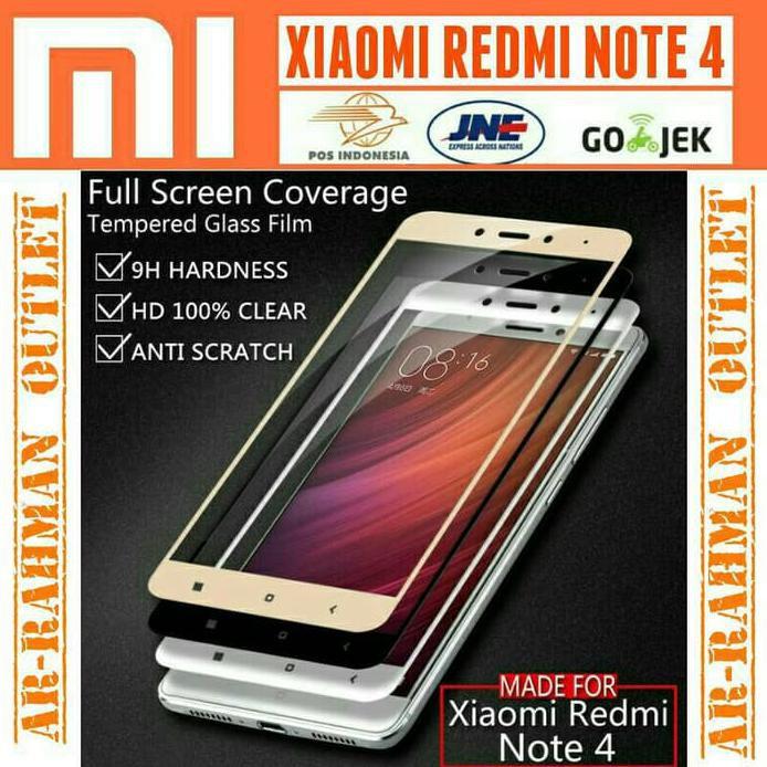 XIAOMI REDMI NOTE 2 ALUMINIUM TEMPERED GLASS HARD EMAS   Shopee Indonesia