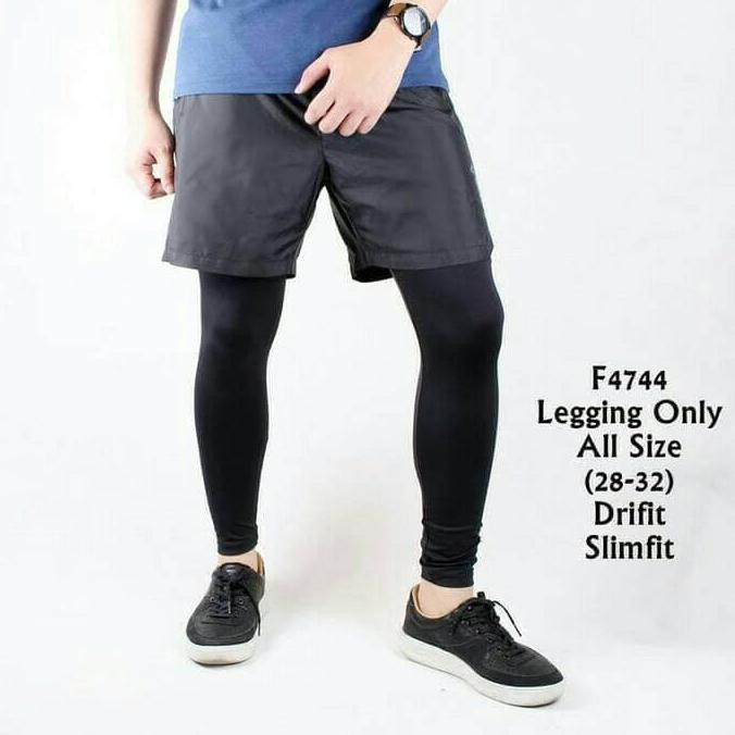 Celana Legging Leging Pria Olahraga Diving Gym Fitness Running Kiper Harga Promo Shopee Indonesia