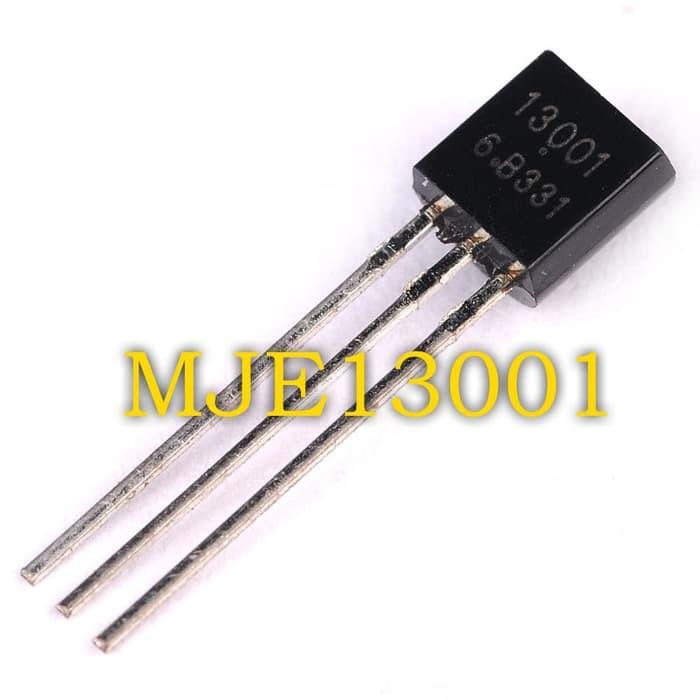 100 PCS MJE13001 TO-92 13001 600V 0.2A Transistor