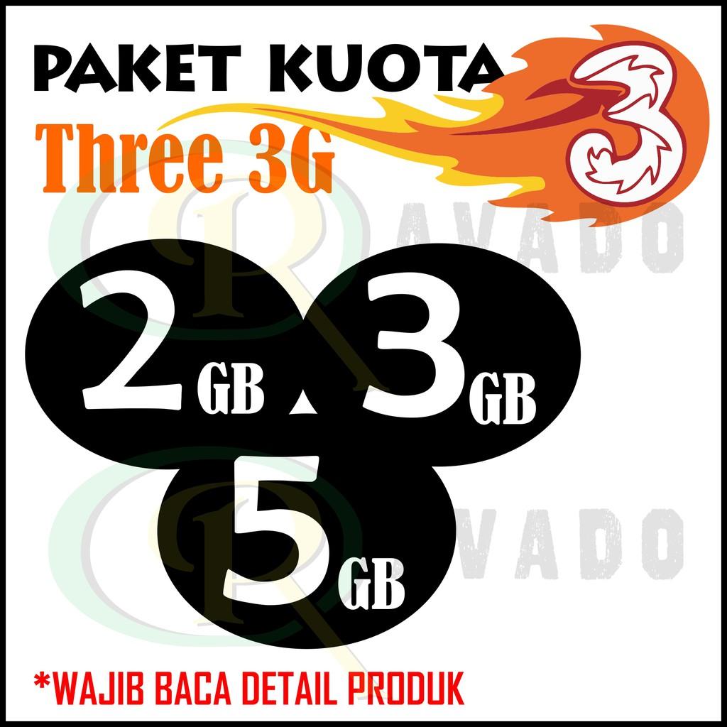 Voucher Inject Paket Data Kuota Internet Three Tri 3 1gb 2gb 3gb 4gb Aon Dan Extra 5gb Isi Ulang Shopee Indonesia