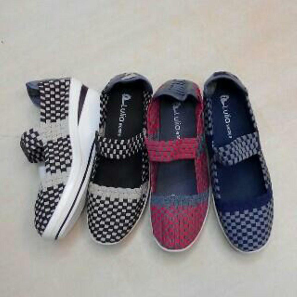Lulia Wedges Vs3222 Red Grey Sepatu Anyaman Wanita Shopee Indonesia Vs33 Rajut Blue