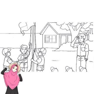 Gambar Mewarnai Pemandangan Rumah Hutan Desain Untuk Melatih Kecerdasan Anak Anak Shopee Indonesia