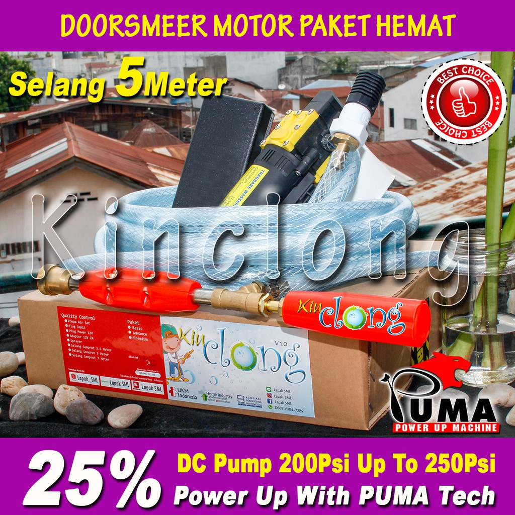 PAKET POMPA CUCI MOTOR JET CLEANER DOORSMER MINI 12V 2A POMPA RS 15 TANPA SELANG | Shopee Indonesia