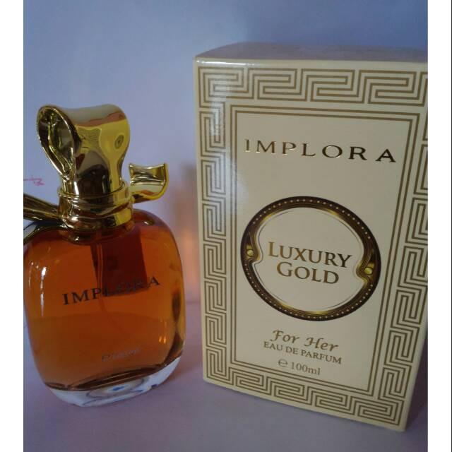 Implora Edp Luxuru Gold For Her 268 Shopee Indonesia