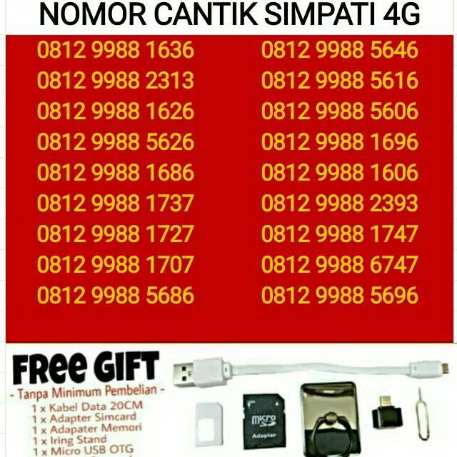 SERI 11 DIGIT Kartu Perdana Nomor Cantik Telkomsel Simpati As Loop 4G | Shopee Indonesia