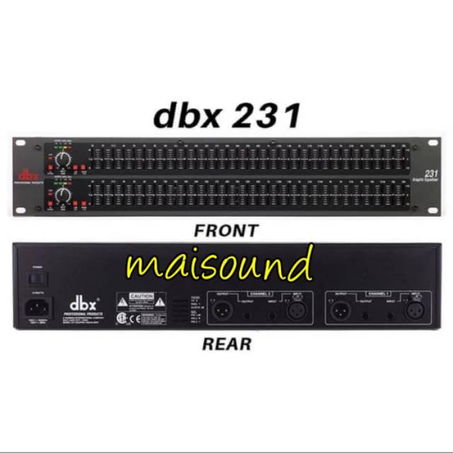 EQUALIZER DBX 231 EQUALISER DBX 231 DBX231