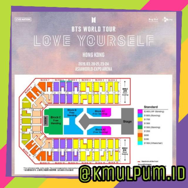 Bts World Tour Love Yourself Hongkong Ticket Tiket Shopee Indonesia