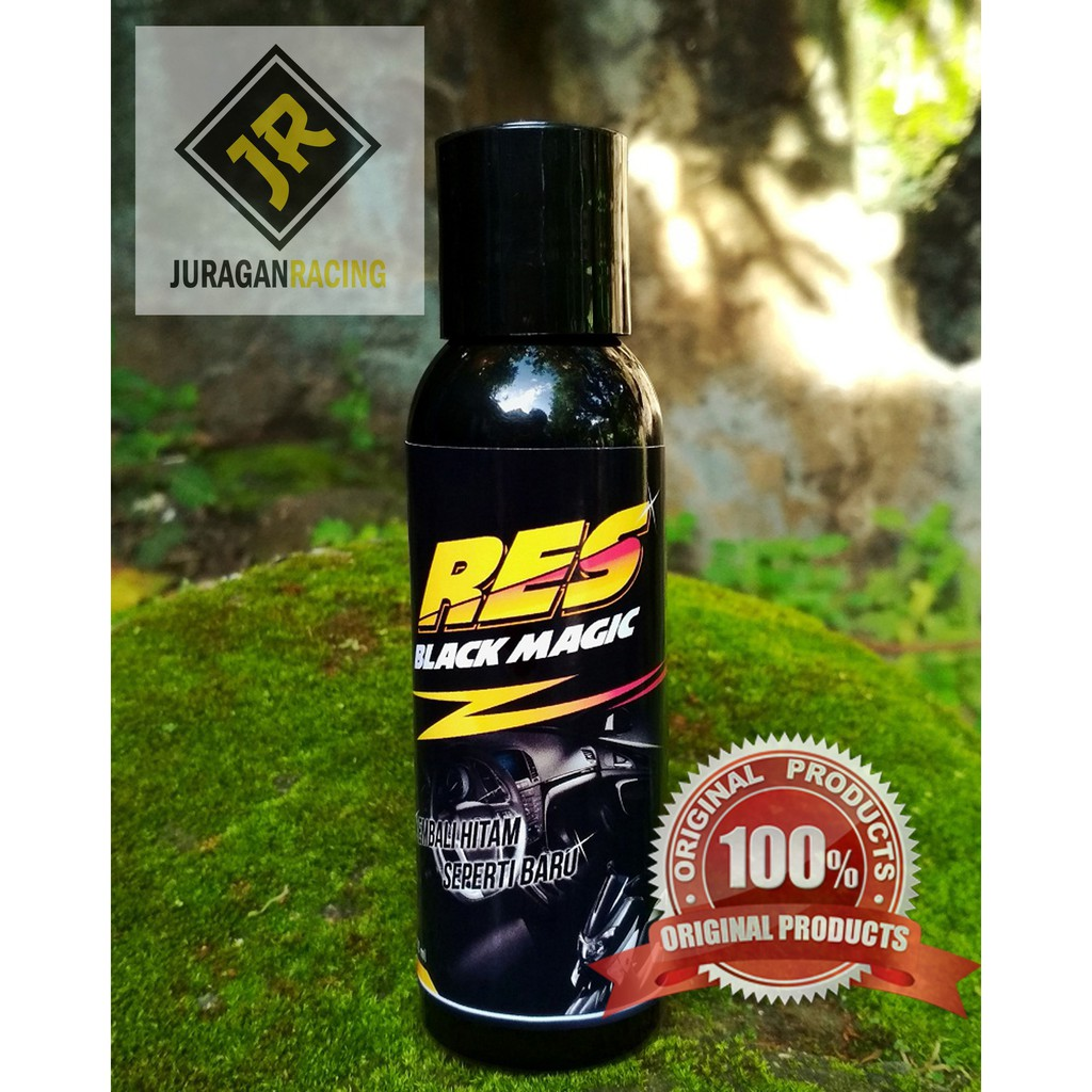 Res Black Magic 100 Ml Penghitam Body Motor Dan Dashboar Mobil Shopee Indonesia