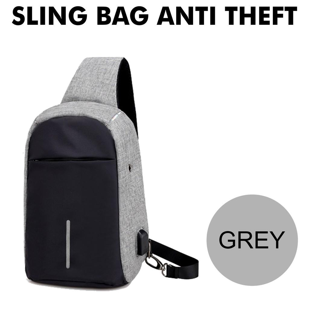 Tas Kanvas Waterproof Slempang / Selempang Anti Air SPEN USB Charger Sling Bag Canvas HIGH QUALITY | Shopee Indonesia