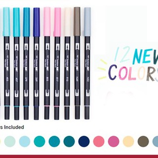 NEW ! Tombow Dual Brush Pen New 12 Color