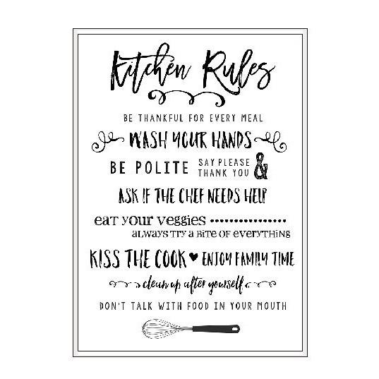 Poster Quotes Kitchen Rules Dekorasi Dinding Rumah Dapur Ruang Makan Shabby Hiasan Dinding Pajangan Shopee Indonesia