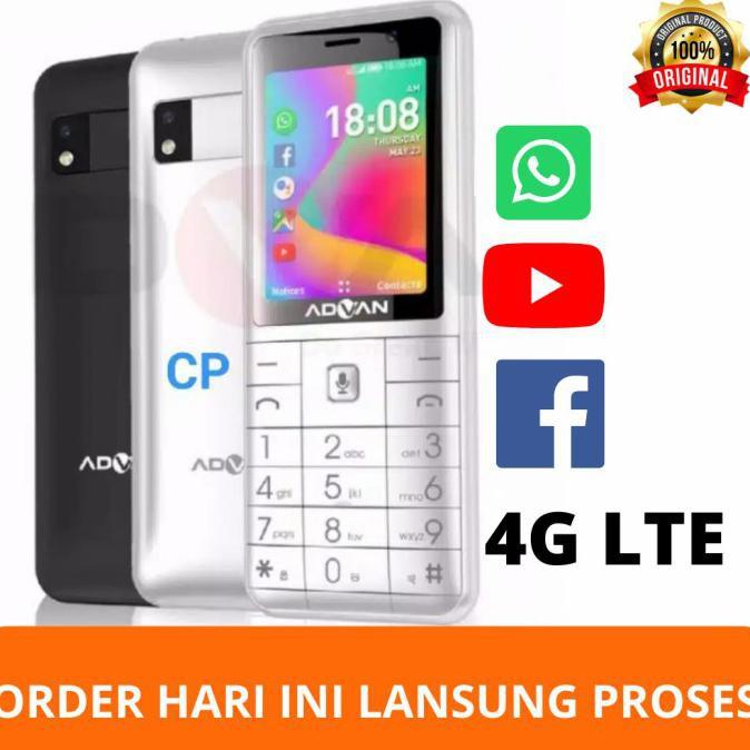 Advan smart Feature 4G LTE Phone Hp Bisa whatsapp Hp jadul Internet - Putih