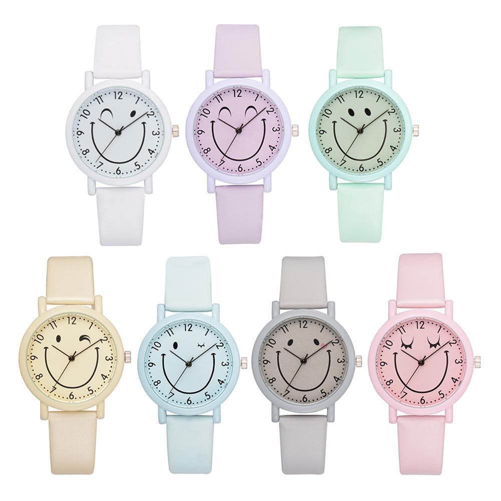 Jam Tangan Wanita Women Watch Brand Fashion Macaron Mint Green Leather Dress Watch   Shopee Indonesia