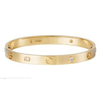 Cartier Love Bracelet 4 Diamonds With A