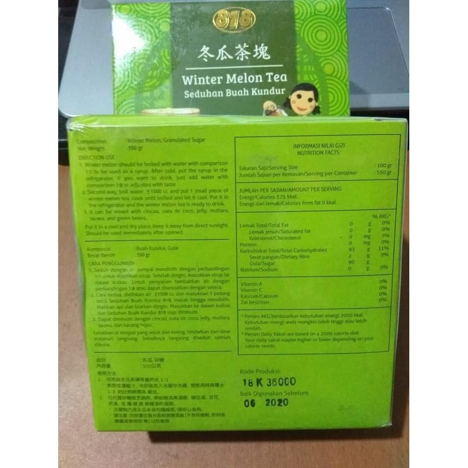 Lezat 100% Teh Kundur Winter Melon Tea .
