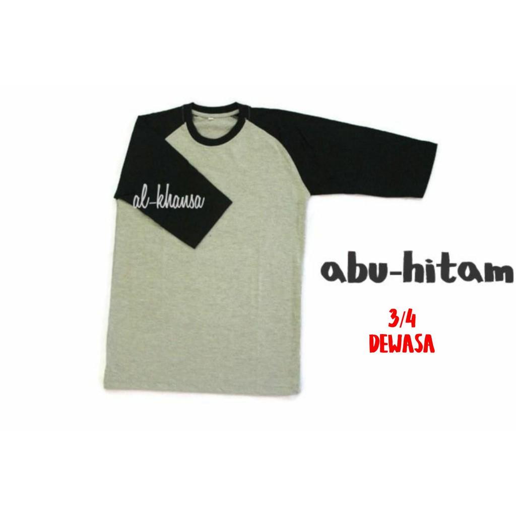 Ramayana Ar89 Kaos Tshirt Raglan 3 4 London Calling Abu Shopee Hitam M Indonesia