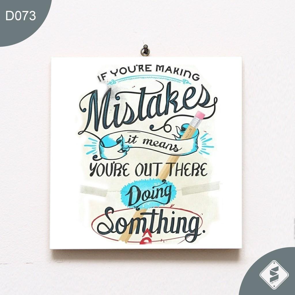Walldecor Poster Gambar Mistakes Unik Typography Ukuran 20x20cm Shopee Indonesia