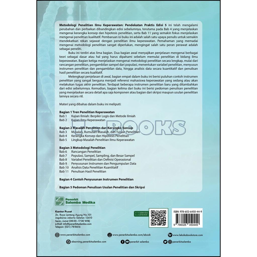Metodologi Penelitian Ilmu Keperawatan Pendekatan Praktis Edisi 5