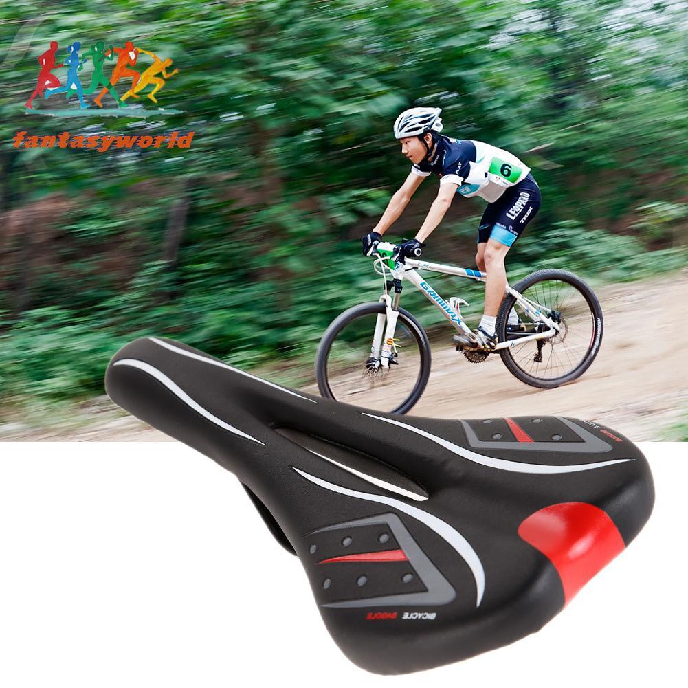 PU Leather Mountain Road Bicycle Bike Cycling Seat Saddle Comfort Cushion Pad