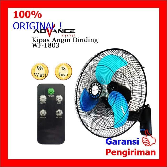 Kipas Angin Dinding Wall Fan Baling Besi Remote 18 Inch