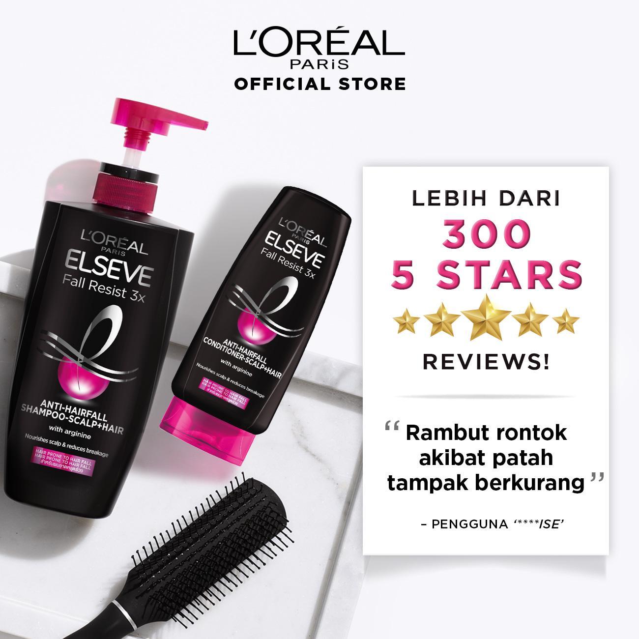 L'Oreal Paris Fall Resist 3x Shampoo Hair Care - 620 ml x3 Pcs (Perawatan Untuk Rambut Mudah Rontok)-7