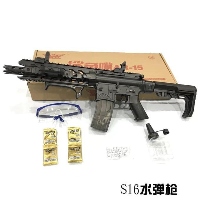 Tembakan Air Water Gel Machine Gun M4a1 Electric Airsoft Gun Shopee Indonesia