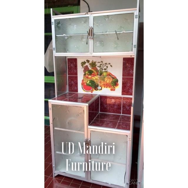 Rak Piring Lemari Dapur Box Kaca Keramik 2 Pintu Pipa Kecil Shopee Indonesia