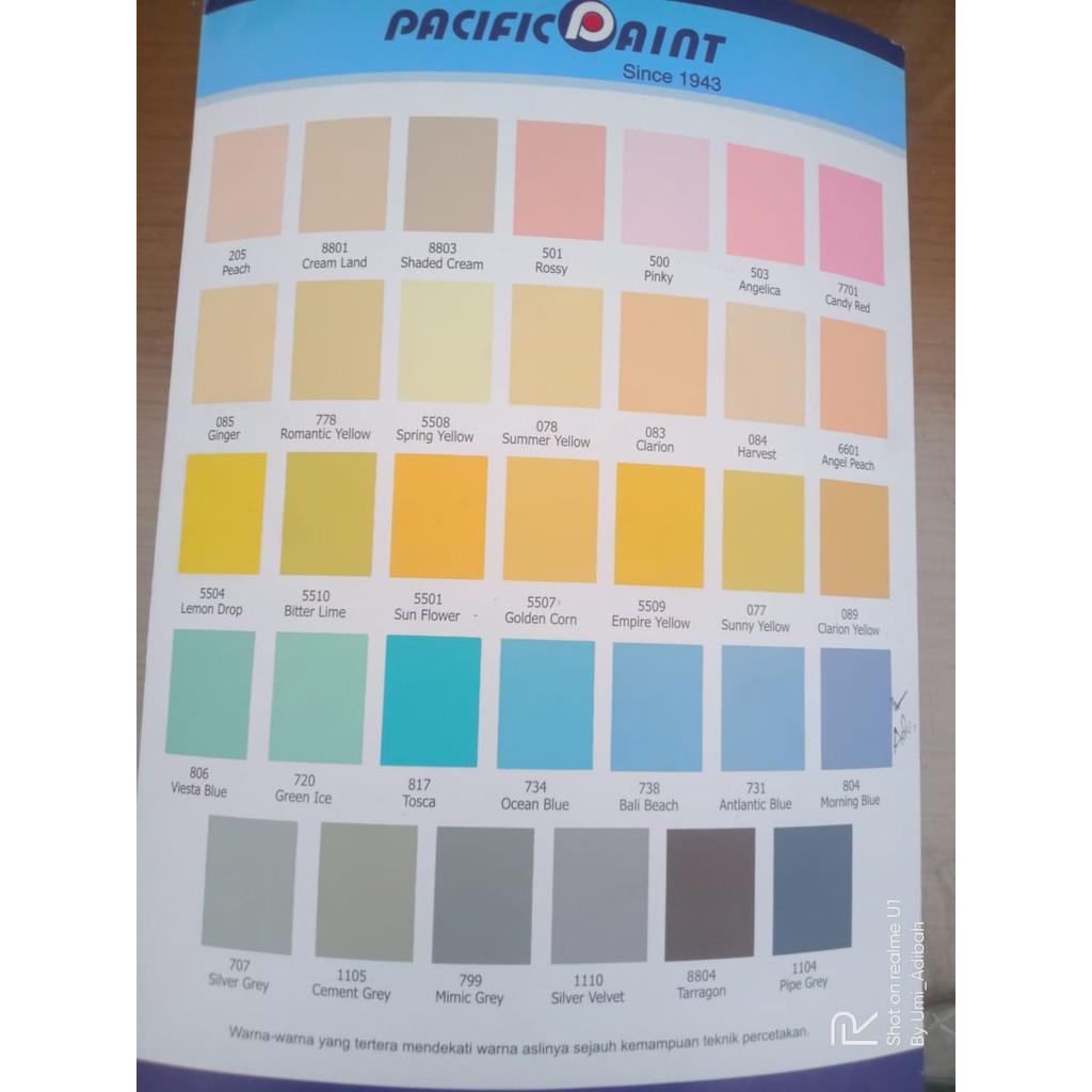 Cat Tembok Metrolite Pasific Paint 3 Liter S05 715 703 5506 708 7702 720 817 6605 731 804 083 095 Shopee Indonesia Warna cat tembok metrolite