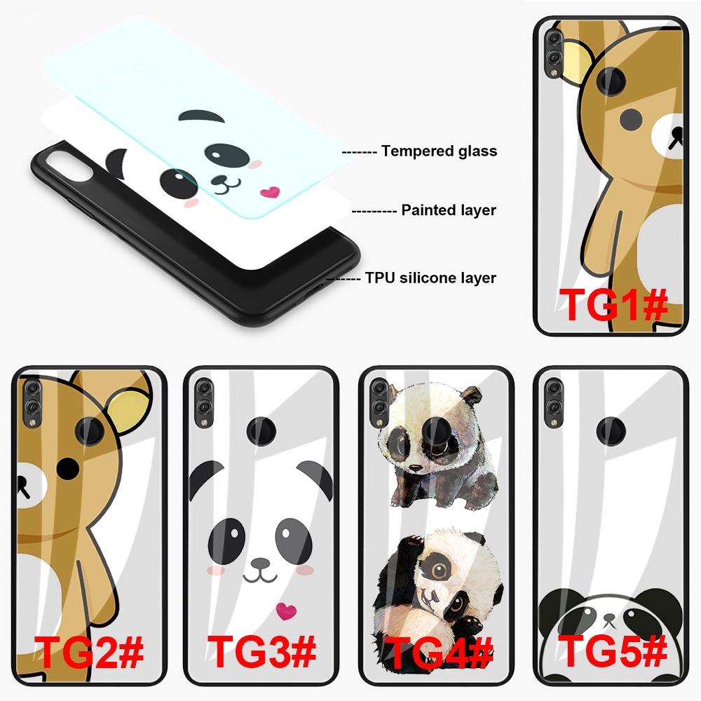 Case HP Gambar Kartun Panda Lucu Untuk Vivo V15 V9 Y95 Y93 Y91 Y91c Y89 Y85