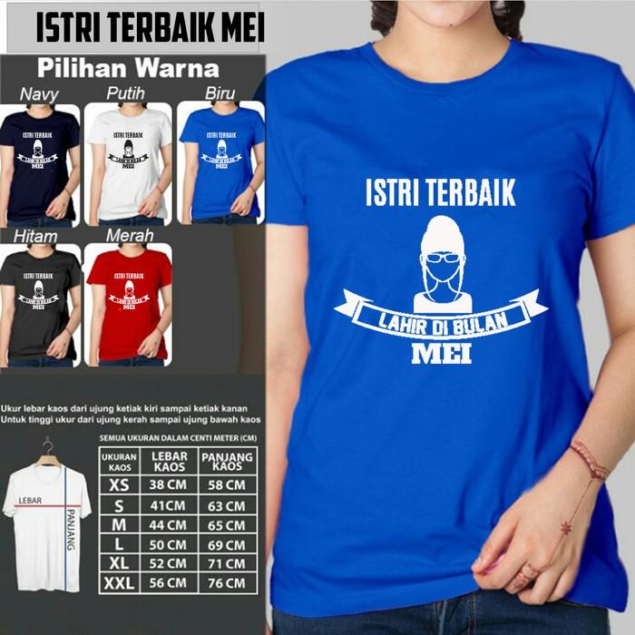 LIMITED STOCK Kaos JANUARI ISTRI TERBAIK LAHIR TShirt Kaos Bulan Lahir | Shopee Indonesia