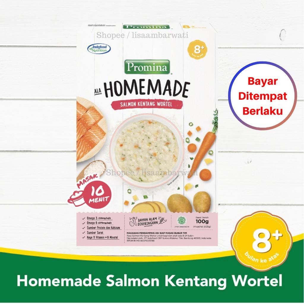 Promina Bubur Bayi 8m Homemade Bubur Salmon Kentang Wortel Box 100gr Mpasi Bayi 8 Bulan Shopee Indonesia