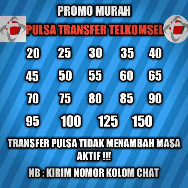 Diskon Pulsa Transfer Telkomsel Murah Shopee Indonesia