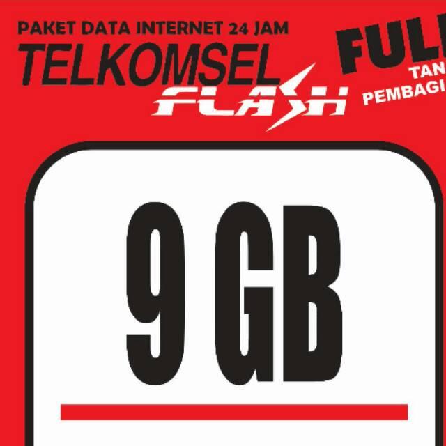 Telkomsel data flash 9GB