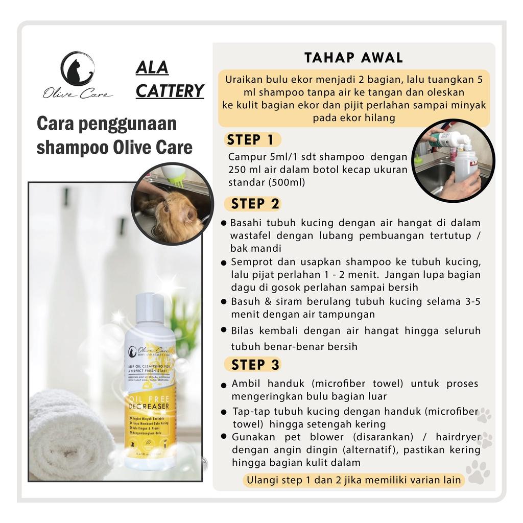 Olive Care Shampo Kucing Oil Free DEGREASER - Angkat Minyak dan Kotoran Berlebih-2