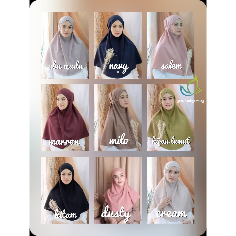 Jilbab Bergo Maryam Hijab Tali Instan Jilbab Instant Jilbab No Ped Jilbab Cantik Jilbab Selebgram Shopee Indonesia
