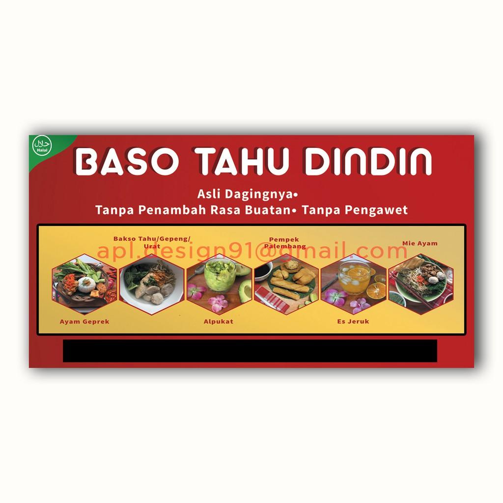 Contoh Spanduk Bakso Tahu - desain spanduk keren