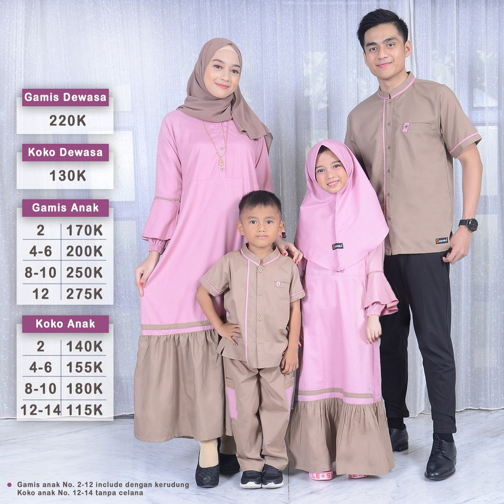 Sarimbit Keluarga Couple Samara Couple Muslim Pusat Baju Couple Toko Busana Muslim Koko Samara Shopee Indonesia