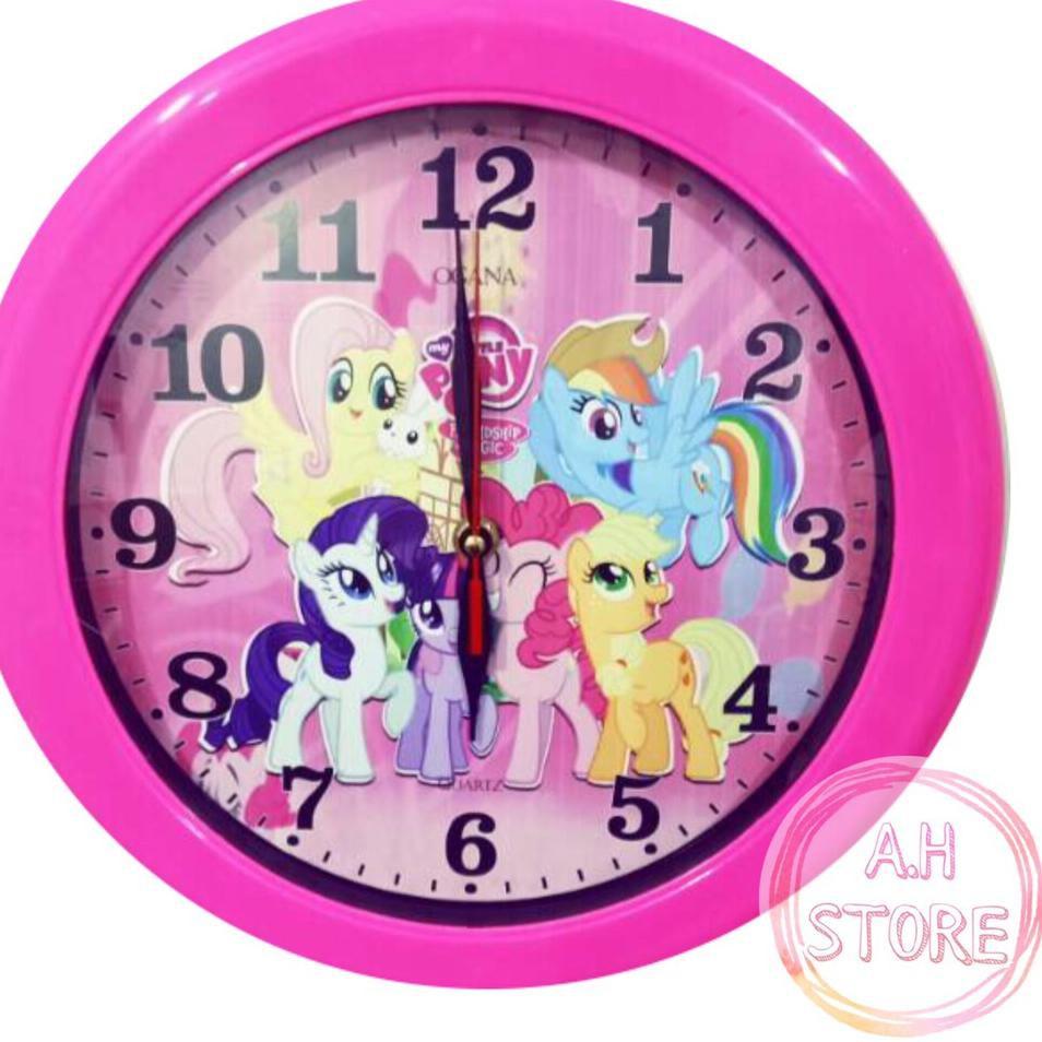 Bagus Banget Jam Dinding Little Pony Kuda Poni Kartun Pink Wall Clock Diameter 30 Cm Shopee Indonesia