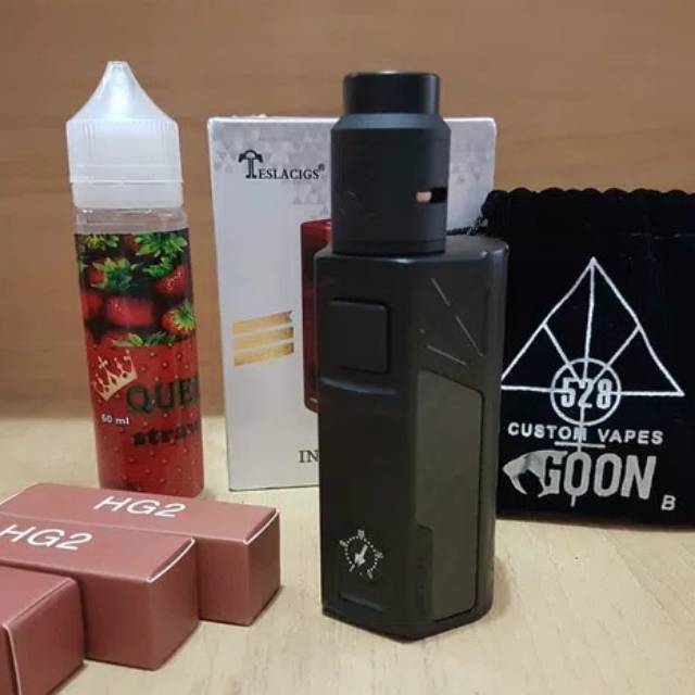 Paket Ngebul Mod Tesla Invader 2 3 Kit Rda Vape Rokok Elektrik Lengkap Siap Pakai Shopee Indonesia