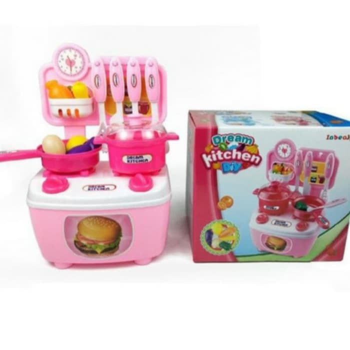 Promo Mainan Dream Kitchen Kecil Kado Mainan Anak Perempuan Masak Masakan Kitchen Shopee Indonesia