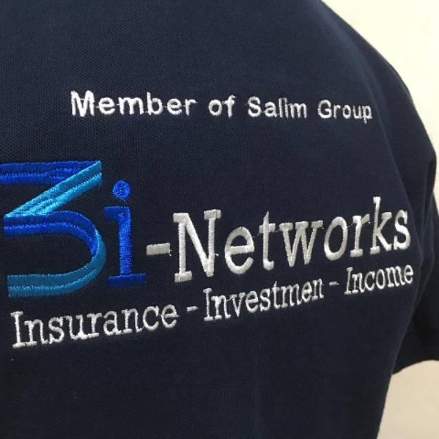 Kaos Polo Shirt CAR 3i Networks Navy Kaos 3i networks salim grup Kaos 3i networks