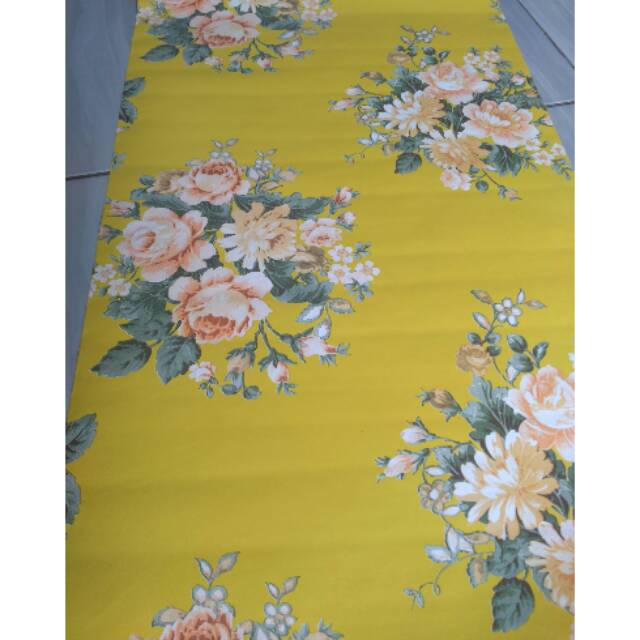 Wallpaper UK 45 cm x 10 meter motif bunga kuning